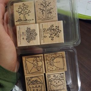 2 season rubber stamp sets